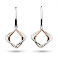 Kit Heath - St. Infinity, Rose Gold Plate Drop Earrings
