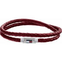 Tommy Hilfiger - Stainless Steel, Leather Double Bracelet