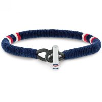 Tommy Hilfiger - Fabric - Stainless Steel - Bracelet, Size 22cm