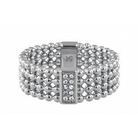 Tommy Hilfiger - Crystal Set, Stainless Steel - - Beaded Ring, Size P