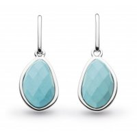 Kit Heath - Ladies Coast Pebble, Turquoise Set, Sterling Silver Drop, Earrings