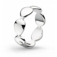 Kit Heath - Coast Tumble, Sterling Silver - - Band Ring, Size O