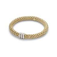 Fope - Love Nest, Diamond 0.57ct Set, Yellow Gold - - 18ct 3 Rondelle Flex'it