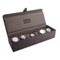 Jacob Jones - Leather Brown And Khaki Watch Box