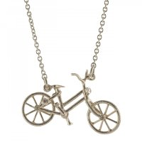 Alex Monroe - Alex Monroe, Silver Vintage BicycleWith Genstone Lights Necklace