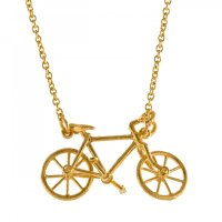 Alex Monroe - Alex Monroe, Gold Plate Alex Bianchi Bicycle Necklace
