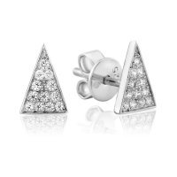 Waterford - C/Z Set, Silver Triangle Earrings, Size Small