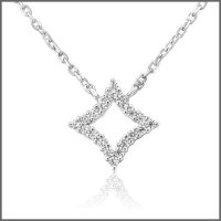 Waterford - C/Z Set, Silver Dia Shape Pendant and Chain, Size 16inch