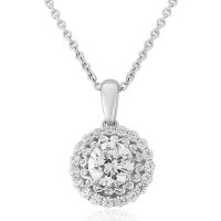 Waterford - Crystal Set, Silver Round Pendant