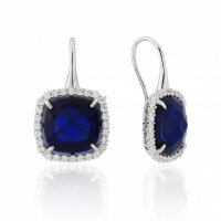Waterford - Sapphire Set, Sterling Silver - - Earrings