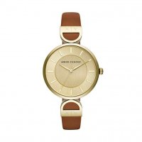 Armani Exchange - BRK, Yellow Gold Plated Gold Faced Watch