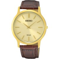 Seiko - Gents , Gold Plated Solar 30m St