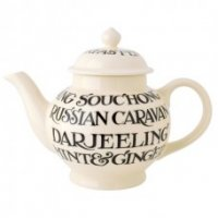 Emma Bridgewater - Black Toast, Ceramic - - Teapot, Size Large