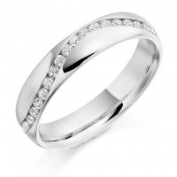 Guest and Philips - Platinum and Diamond Full Eternity Ring Size M.5