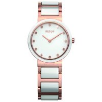 Bering - Swarvoski Crystals Set, Ceramic Ladies Watch