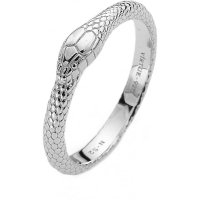 Virtue - Snake, Sterling Silver Ring, Size N