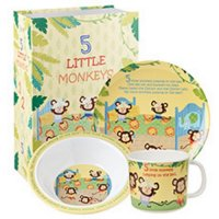 Churchill - Melamine 3 Little Monkeys, 3 Piece Set