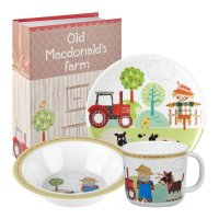 Churchill - Kids Queens, Melamine 0ld Mcdonald Tray Set