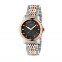 Gucci - Rose Gold Plated Stainless Steel Black Dial Watch