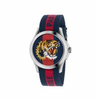 Gucci - Velcro With Stainless Steal Lion Watch