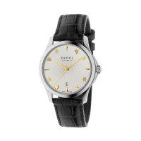 Gucci - Timeless, Stainless Steel - Leather - Size medium