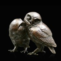 Richard Cooper - Bronze Pair of Little Owls Ornament, Size 7cm