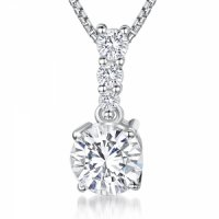 Jools - Cubic Zirconia Set, Sterling Silver Necklace