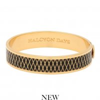 Halcyon Days - Parterre, Enamel 13mm Hinged Bangle