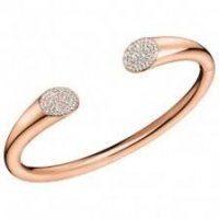 Calvin Klein - Crystals Set, Stainless Steel With Rose Gold Plating Open, Bangle, Size M