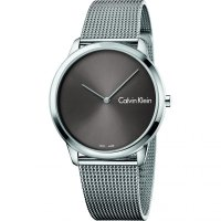 Calvin Klein - Minimal, Black Stainless Steel Mesh Bracelet Watch