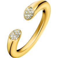 Calvin Klein - Crystals Set, Stainless Steel With Yellow Gold Plating Ring, Size N