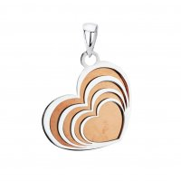 Tianguis Jackson - Sterling Silver 4 Silver Hearts Pendant