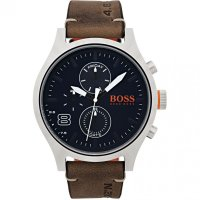 Hugo Boss - Chicago, Stainless Steel Leather Strap