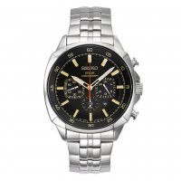 Seiko - Gents, Solar, Recraft Series, Stainless Steel Chronograph Watch