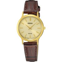 Seiko - Ladies , Gold Plated Solar Powered Watch 30m