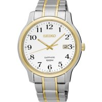 Seiko - Sapphire, Stainless Steel/Tungsten Bi colour Quartz bracelet watch