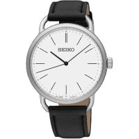 Seiko - Quartz Core, Stainless Steel ladies quartz leather strap watch