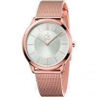 Calvin Klein - Minimal, Mesh Material, Rose Gold Plated Watch