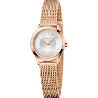 Calvin Klein - Minimal, Rose Gold Plated Mesh Bracelet Watch