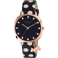 Radley - Kennington, Stainless Steel and Leather Blue and White Spot Strap Watch