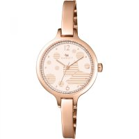 Radley - Ormond, Cubic Zirconia Set, Rose Gold Plate Half Bangle Watch