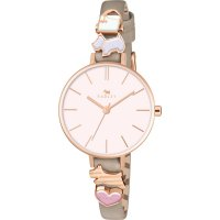 Radley - Woodland, Rose Gold Plate Leather Strap Watch