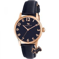 Radley - Liverpool Street, Stainless Steel and Leather Navy Strap Watch