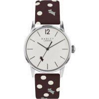 Radley - Vintage Dog, Stainless Steel/Leather Watch, Size 34 mm.