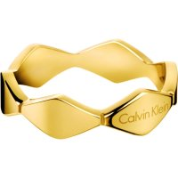 Calvin Klein - Yellow Gold Plated Ring, Size N