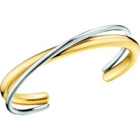 Calvin Klein - Stainless Steel With Yellow Gold Plating Open, Bangle, Size M