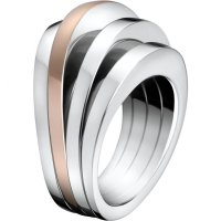 Calvin Klein - Rose Gold Plated Ring, Size N