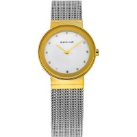 Bering - Classic, Stainless Steel/Gold Plated Milanese Bracelet Watch