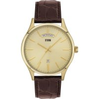 Storm - Dudley Gold, Brown Leather Strap Men's Watch