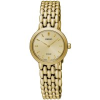 Seiko - Ladies , Gold Plated Solar 30m Bracelet